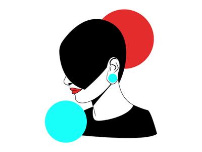 Portrait #1 art glitch women girl
