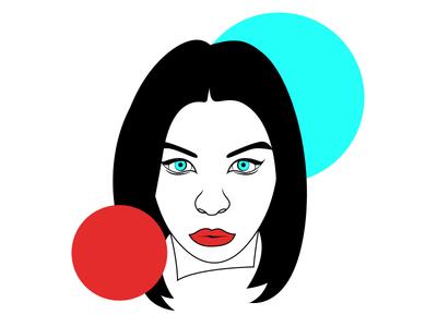 Portrait #4 art glitch women girl