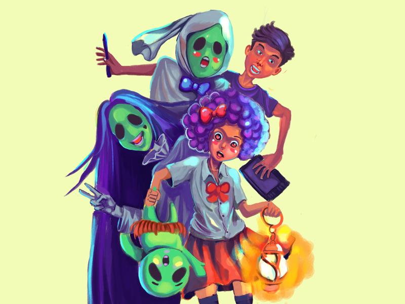 Ghost Parade digitalpainting illustration