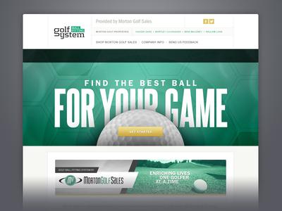 Golf Ball Fitting golf green