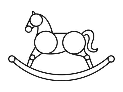 Rocking Horse logo rocking horse geometry