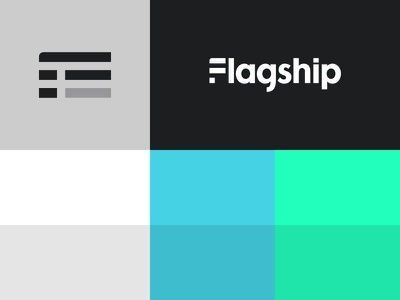 Flagship Colors flagship logo seafoam