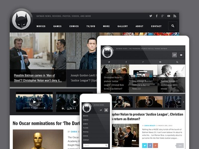 Batman-News responsive website wordpress batman