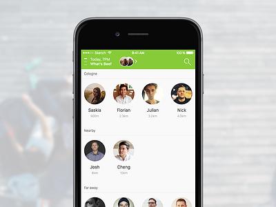 Hello! - Invitu  meetings app design ios invitation invite meet swarm user interface user experience design ui ux