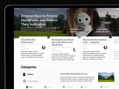 Daily News App apple interface read reader user-interface ux ui ios ipad news news-app