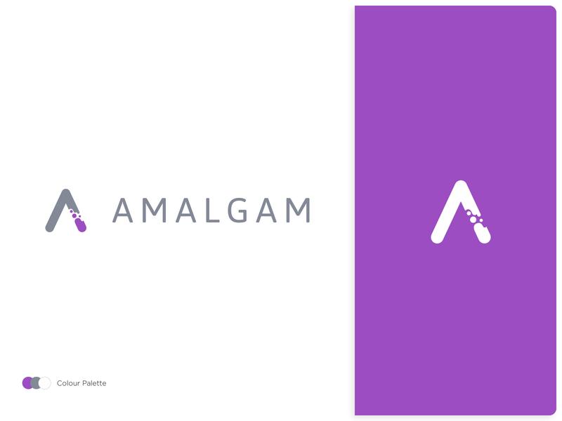 Amalgam Logo data visualization chemistry experiments data logo design branding illustration