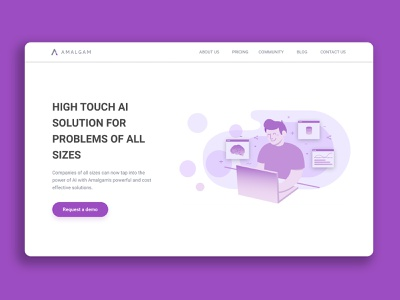 Amalgam Website product design ux uidesign ui amalgam ai machine learning design illustration