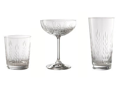 Absolut Elyx Glass & Copperware Designs bar spirits product copperware copper cocktails drinks barware cut glass glassware elyx absolut