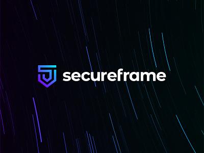 Secureframe logo design vector simple minimal logotype logo design logo illustrator icon design clean branding app