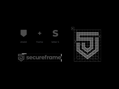Secureframe logo grid icon logodesign vector typography logotype clean branding simple minimal logo