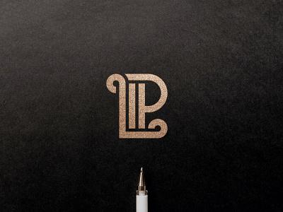 LP monogram monogram gold logodesign icon typography logotype clean branding simple minimal logo