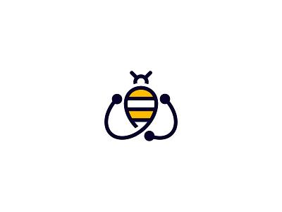 BeeByte Marketing vector bee illustration logodesign icon typography logotype branding simple minimal logo