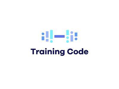 Training Code design branding health illustration logodesign logotype dumbbell fitness training simple minimal logo
