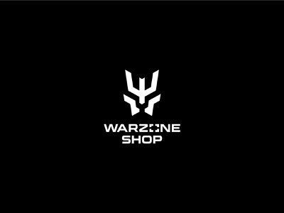 Warzone Shop vector icon typography logotype clean gear tactical war branding simple minimal logo