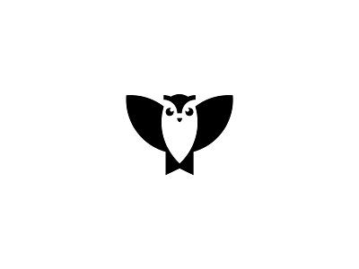 Bookmark Owl icon logodesign animal owl typography logotype clean branding simple minimal logo