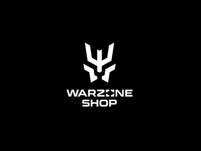 Warzone Shop logodesign weapon tactical army soldier warior war logotype clean branding simple minimal logo