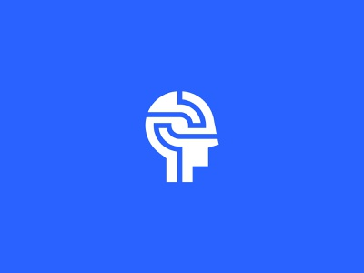 Deep vector digital deep thinking mind head logodesign logotype clean branding simple minimal logo