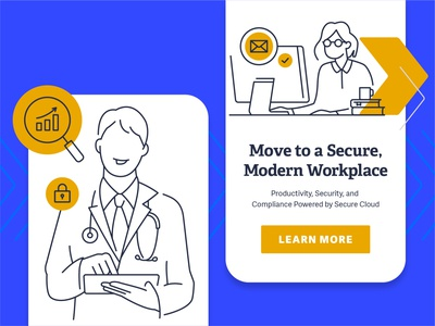 Modern Workplace email office healthcare workplace people character design security character mobile illustrator illustration