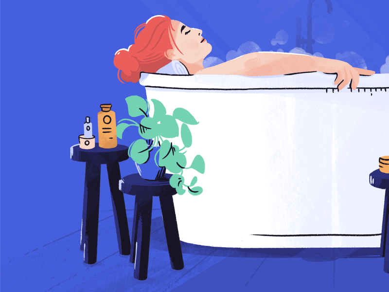 Celebrating Pregnant Women relax pregnant bath woman people character design character illustrator illustration