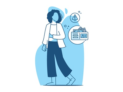 Credit Score woman people illustrator character design branding icon financial finance money credit card character illustration