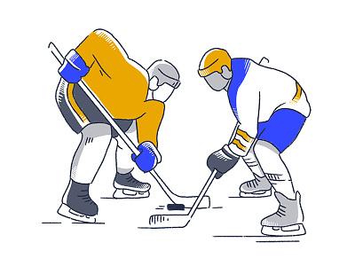 hockey character sports character design brand illustration hockey player hockey illustration