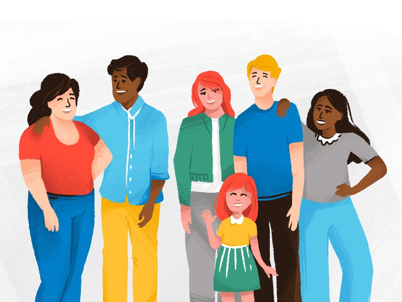 Community people family community brand illustration character character design illustration