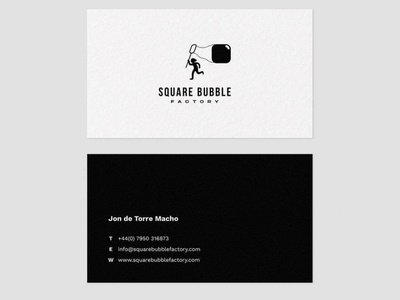 Square Bubble Business card website web vector icon design typography logotype logo brand branding