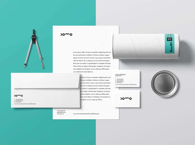 DOMO Stationery architecture design architecture naming stationery mockup stationery design stationery set designs marketing agency marketing branded rebranding rebrand logotype logotype design visualidentity brand identity branding design branding project branding