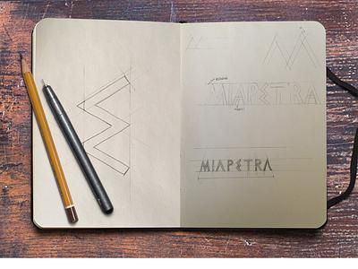 Creative Process: MIAPETRA Logo sketchbook sketch brand identity icon visual identity typography design logotype logo brand branding creative process