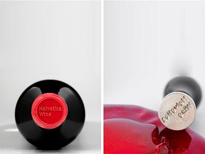 Helvetica Wine wine bottle wine glass lynotipe helvetica neue helvetica bottle bottle design package design packaging wine design wine label winery wine visual identity typography design logotype brand logo branding