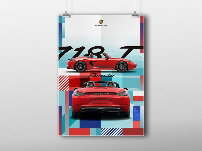 Porsche Poster graphicdesign graphic design vector booster porsche visual art visual design brand identity brand visual identity poster branding design
