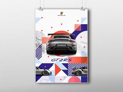 Porsche Poster porsche marketing logo poster brand identity visual identity logotype design brand branding