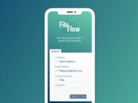 FileFlow Sign Up Concept