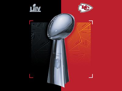 Super Bowl LIV trophy graphic