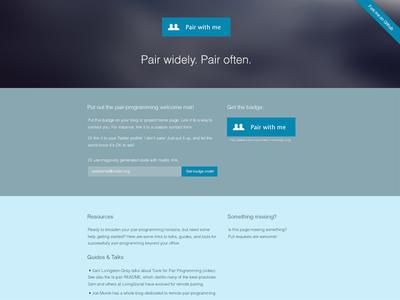 pairprogramwith.me Redesign redesign pairprogramwithme web design