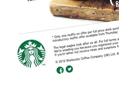 Social icon suggestion for Starbucks starbucks facebook twitter social icons email newsletter