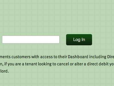 Login Screen & Button button web design