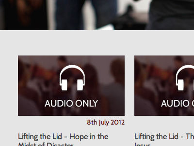 A New Podcast Page podcast headphones icon web design cabin