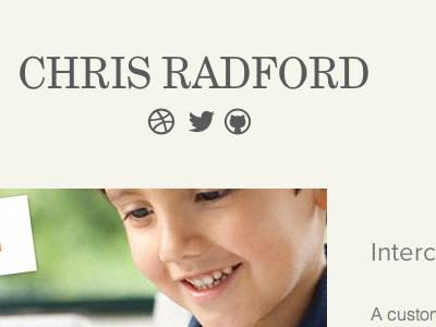 Portfolio Update proxima nova grad portfolio web design
