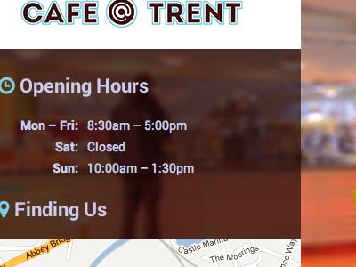 Cafe Trent Website cafe website roboto font awesome