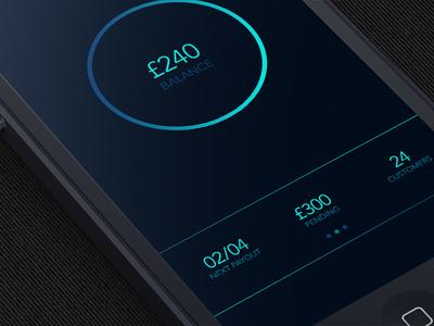PayBook for GoCardless on iPhone (Zoomed) gocardless avenir iphone app app design