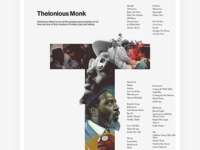 Thelonious Monk — Black History Month Tribute Poster