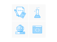 Monkey Pants Academy Course Icons