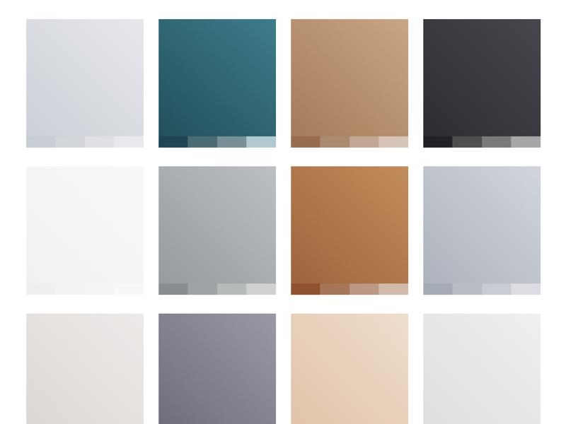 Minimal Gradients (Freebie) sketch minimal color palette gradient clean