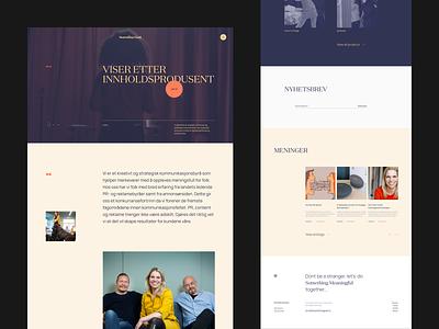 Something Good : Landing Page homepage web design website typography clean ui minimal interaction vietnam layout landing page