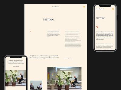Something Good : Metode Layout / Responsive blog article content agency grid typography homepage web design clean ui website interaction minimal landing page layout vietnam
