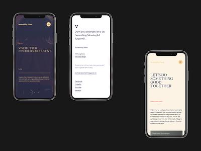Something Good : Mobile Versions responsive phone mobile ui clean website homepage minimal layout landing page vietnam