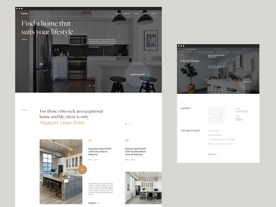 Masteri Experimental Layout minimalism homepage web design clean ui interaction website minimal landing page layout vietnam
