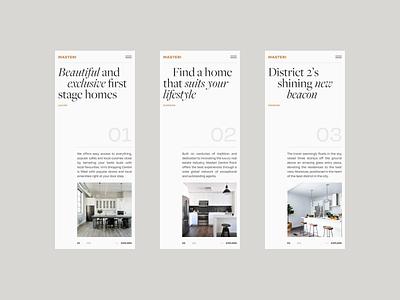 Masteri Experimental Mobile Layout product design serif font homepage ui landing page vietnam illustration web design minimal clean website typography layout adaptive responsive app mobile