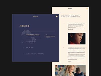 Something Good : Behance Showcase typography homepage web design clean minimal interaction website landing page layout vietnam